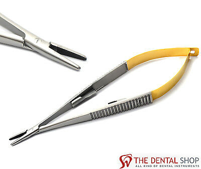 Castroviejo Needle Holder Straight Surgical Dental Double Spring Instruments New