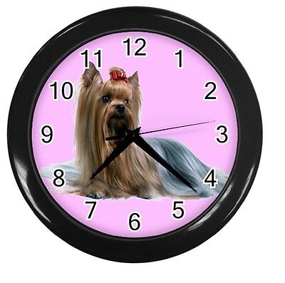 NEW SILKY TERRIER DOG ROUND 10inch WALL CLOCK HOME OFFICE DECOR 89225981