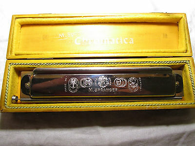 Harmonica  M. Spranger Superior Chromatica with case, made in Germany nice find!