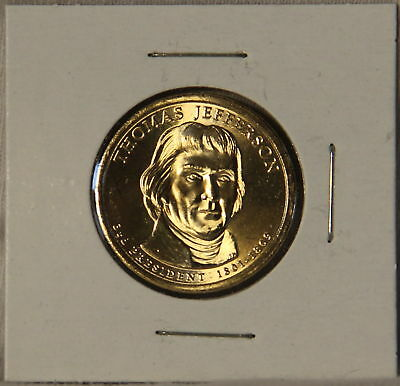 Thomas Jefferson 2007 P Presidential Dollar Coin Uncirculated Philadelphia BU