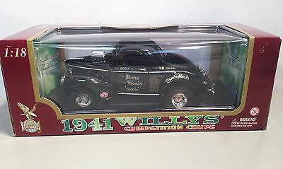 Road Legends 1941 Willys Coupe Stone Woods & Cook Drag Car LE 1:18 Bxd