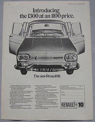1969 Renault 10 Original advert
