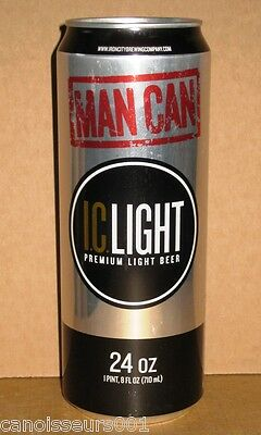IRON CITY LIGHT MAN CAN 24 oz Beer Can Blowout #120