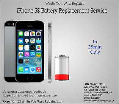 Repair Replacement Fix Service for iPhone 5S Battery Replacement