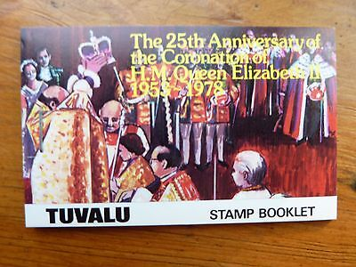 931]  -  TUVALU STAMPS - BOOKLET - 25th. ANNIV. of CORONATION of QE 11  1978