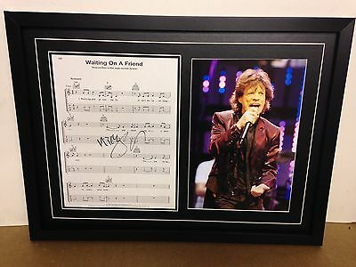 Mick Jagger/Rolling Stones Hand Signed/Autographed Songsheet with Photo & COA