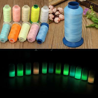 AU 3000 Yards Spool Glow In The Dark Machine Embroidery Sewing Thread Polyester