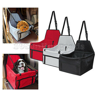 Pet Dog Cat Puppy Car Seat Safe Travel Carrier Bag Cage Tote Easy Folding