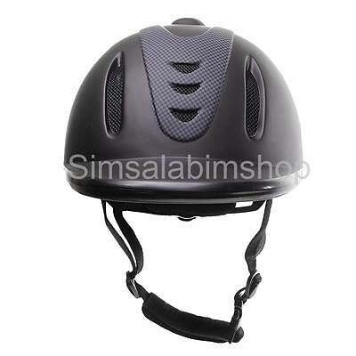 NEW SAFETY LOW PROFILE WESTERN HORSE RIDING HELMET HEAD PROTECTOR Large Size
