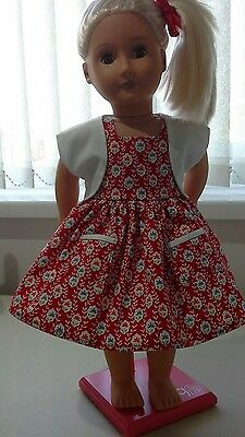 Hand Made Dress and Shrug for 18 inch Our Generation Dolls