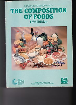 The Composition Of Foods. (Mc Cance And Widdowson's) Fifth Edition