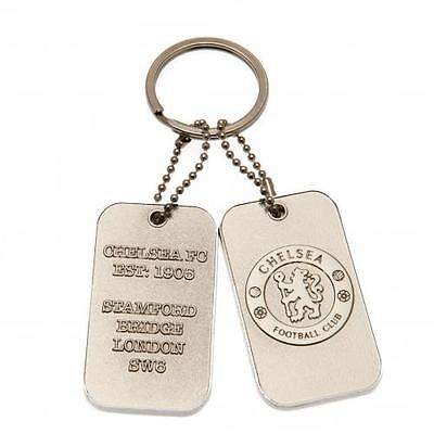 Chelsea F.C. Dog Tag Keyring Official Merchandise