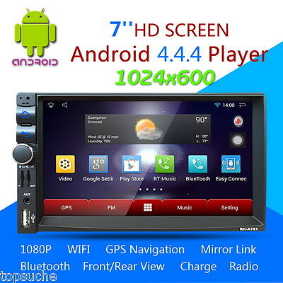 "7"" 2 DIN Android Autoradio Estéreo Coche Reproductor Bluetooth MP3 USB GPS WIFI"
