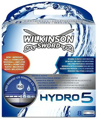 Wilkinson Sword Hydro 5 Razor Blades - 8 Pack Genuine