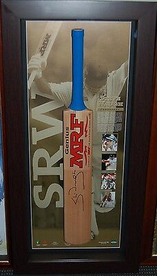 Steve Waugh Hand Signed And Framed Conqueror Mrf Limited Edition Bat
