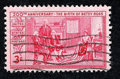 1952 United States 3c Birth Cent Betsy Ross SG 1001 FINE Used R22372