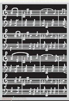 A5 Mask - Music Bars - Musical Notes - Stencil - Embossing - 1123 - New Out