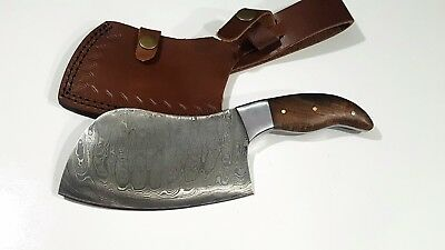 "9"" Damascus FBK-22 Custom Handmade Kitchen Chef Cleaver Knife"