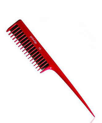 Back Combing Hair Comb Red Professional Pro Tip No 10 For Hairdressing