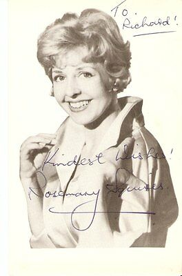ROSEMARY SQUIRES  - English Singer/ Songwriter    Signed pic