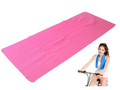 Pink Instant Cool Gym Sweat Towel Sports Absorb Cloth Dry Drying Baby Workout