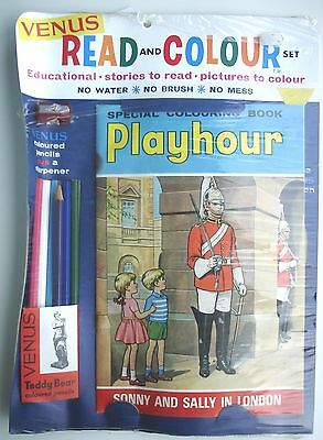 Playhour comic colouring book sonny & sally in london  venus  read & colour 1966