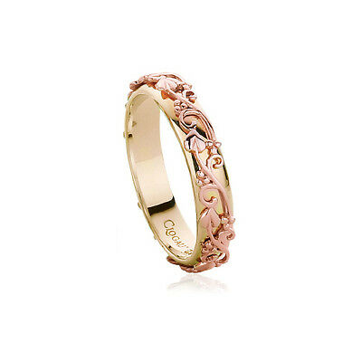 Clogau Yellow & Rose Gold Tree of Life Ring **SAVE 55% OFF RRP £560** SIZE N