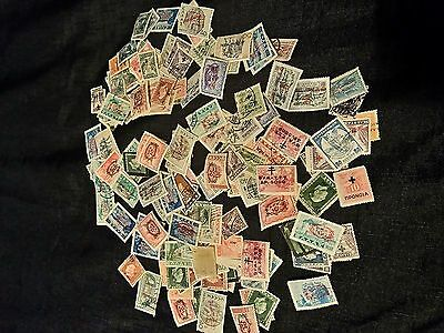 Collection of 194 Greek Overprint Stamps Unsorted (High Profit Potential)