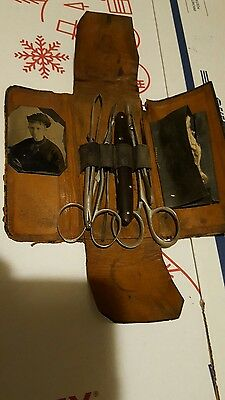 Rare Female Doctor 1800S Antique Vintage Surgical Instruments With Doctors Pic