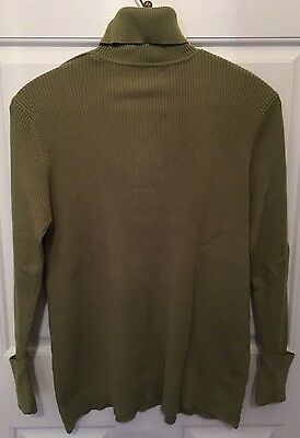 JM COLLECTION Green Maternity Turtleneck Sweater Size XL