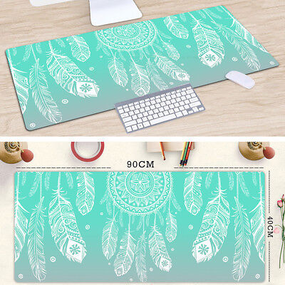 Extra Large Anti-slip Desktop Mouse Pad / Big Wide Size 90x40cm / Feathers