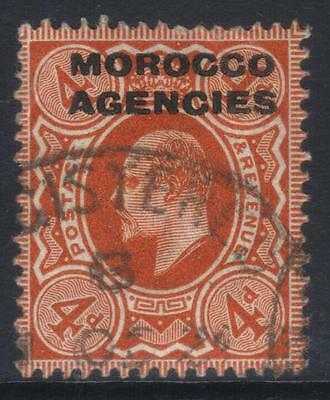 MOROCCO AGENCIES 1907-1913 OPTD SG35a USED CAT £20