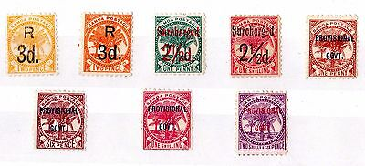 Samoa Early Collection of O/P 8 Values Mint X5491