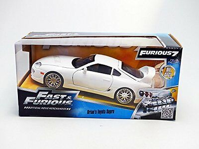 Jada 97375 - 1/24 Scale Brian's Toyota Supra White Diecast Model Car