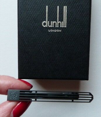 Dunhill Tie Clip / Pin Classic Black Contemporary Design Boxed GENUINE