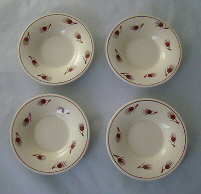 Vintage Susie Cooper, 4 replacement saucers for coffee cups/cans.