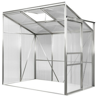 Greenhouse Hothouse Lean To Greenhouse Garden Aluminium 3.65m³ 1.92x1.27m Alu