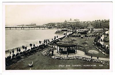 J. Salmon Real Photo Postcard - West End Gardens & Shelter - Morecambe