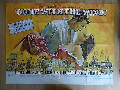 GONE WITH THE WIND (1939) RR 1969 - original UK quad film/movie poster