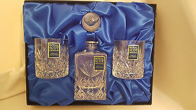 Presentation Boxed Tot Set Crystal Glass From Royal Scot Crystal mini decanter