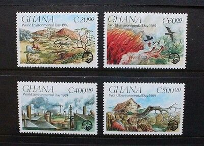 GHANA 1990 World Environment Day. Set of 4. Mint Never Hinged. SG1404/1407.