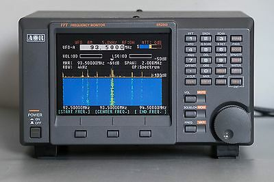 AOR SR2000 FREQUENCY MONITOR / SCANNER 25-3000MHz - perfect, power supply, boxed