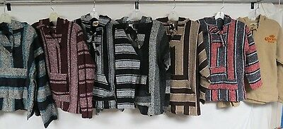 Lot Of 12 Baja Shirts Drug Rugs Hoodies Adult Unisex Pullovers Earth Ragz Mexico