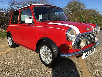 SOLD Rover Mini Cooper. 1.3i. Stunning Flame red. Only 51k, 3 owners & a  FSH.