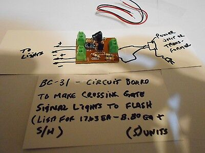 BC-31X Gary's Things, Circuit Board to make Crossing Gate Signal Lights Flash