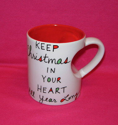 Our Name is Mud  KEEP CHRISTMAS IN YOUR HEART Mug Prototype  Lorrie Veasey