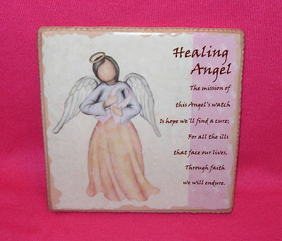 Faithful Guardians HEALING ANGEL Decorative Tile with easel  About Face Designs
