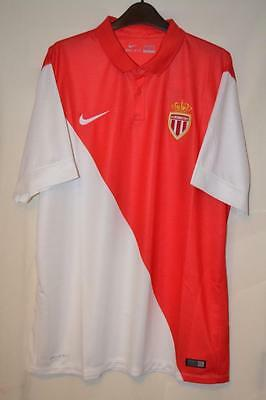 Bnwt As Monaco 2014-2015 Nike Red & White Home Shirt Xl Mens