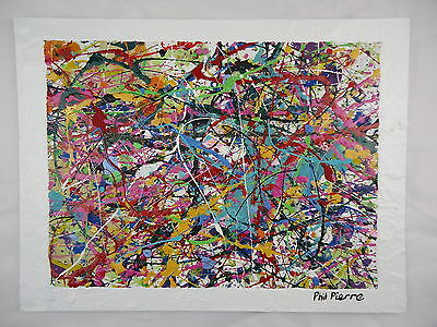 Phil Pierre - BUBBLE GUM 250 - new original abstract acrylic painting on board