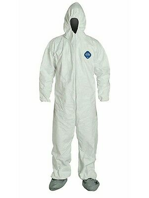 DuPont Tyvek TY122S Coverall Hood Boots, Elastic Cuff, White, 2XL, CASE OF 25!!!